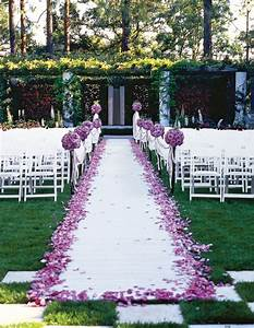 Outdoor wedding aisle decorations weddingbee for Outdoor wedding aisle decor