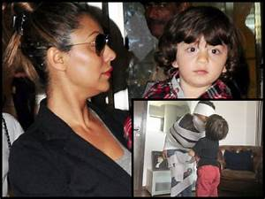 RARE SIGHT! AbRam Kisses Mommy Gauri Khan & Their Picture ...