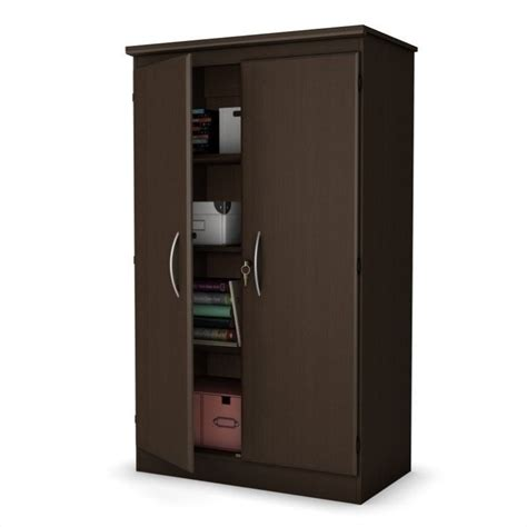 south shore storage cabinet chocolate south shore park 2 door storage cabinet in chocolate