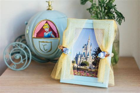 cinderella inspired picture frame disney family