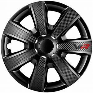 Enjoliveur Opel Vivaro 16 : check price autostyle vr black hubcap set vr black carbon look logo car wheel trims set of 4 ~ New.letsfixerimages.club Revue des Voitures