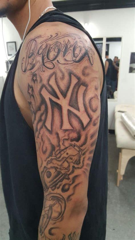 york bronx barber tattoo sleeve    work