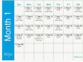 Piyo Workout Calendar Printable