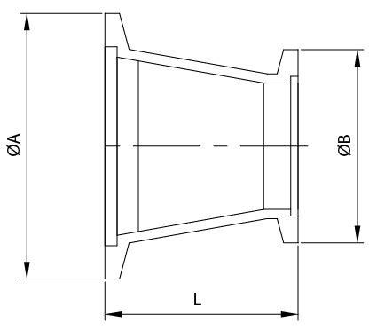 Kf Conical Reducing Adapter Provider  Raccordi Per Tubi