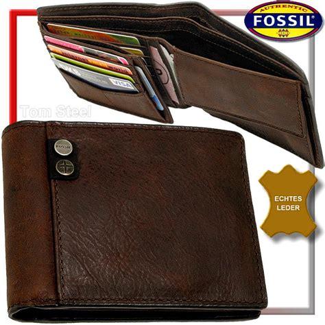 Fossil Herren Geldb 246 Rse Leder Geldbeutel Portemonnaie Geldtasche Portmonai Neu Ebay