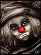 Sad Clown Face Drawing...