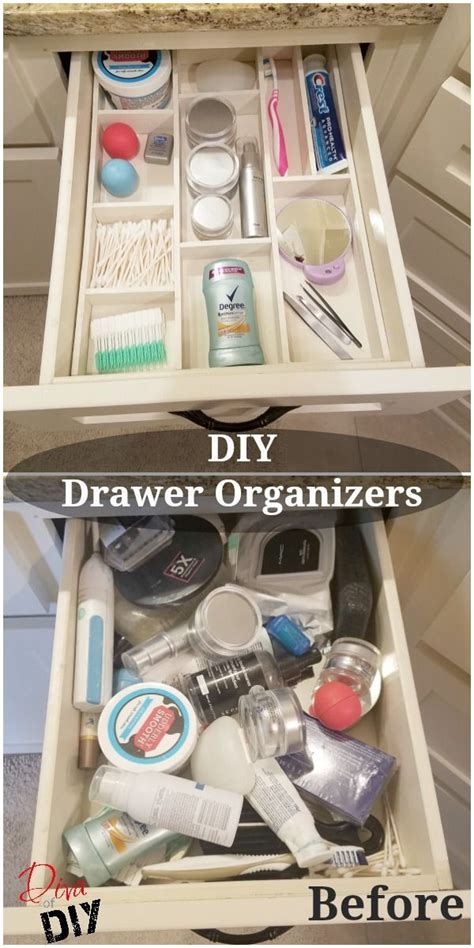 Diy Kitchen Drawer Organizer by Best 25 Bathroom Drawer Organization Ideas On