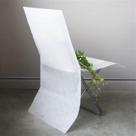 housse de dossier de chaise housses de chaise blanche en intissé décorations de chaise nappage vaissellejetable fr