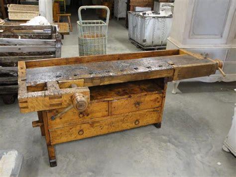 vintage woodworker vise bench nice older bench