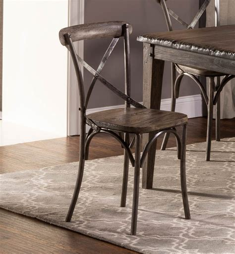 hillsdale lorient 6 pc rectangle dining set with x back