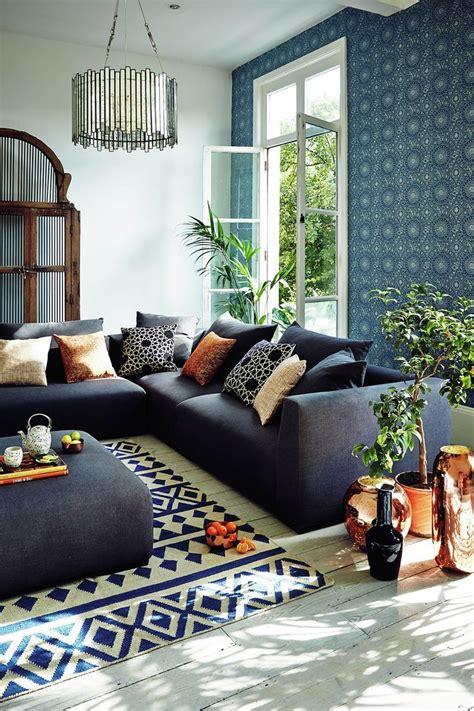 image result  navy blue  copper living room living