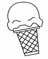 Ice Cream Scoop Cone Coloring Snow Drawing Icecream Pages Print Getdrawings Printable Getcolorings sketch template