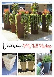 Diy, Tall, Planters, U2013, Unique, And, Beautiful, Diyplanter, Gardening