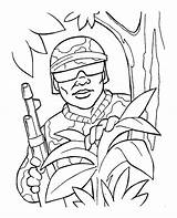 Coloring Army Pages Soldier Printable sketch template