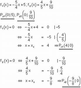 Schnittpunkt Mit Y Achse Berechnen Lineare Funktion : l sungen lineare funktionen teil xiii ~ Themetempest.com Abrechnung