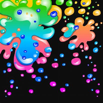 Splatter Paint Background Neon Party Penguin Club