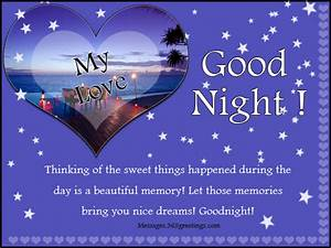 Good Night Sms Text Messages Sweet Cute Romantic ...