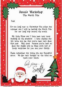 Christmas Skating Santa A4 Child s Letter from Santa