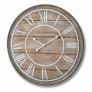Large wooden wall clock 80cm bedroom furniture direct for Wooden wall clock images