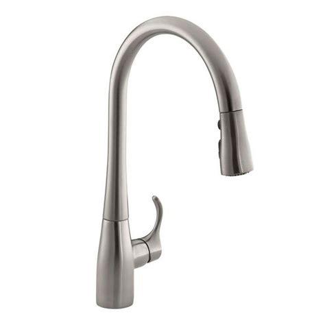 kohler kitchen faucets kohler simplice single handle pull sprayer kitchen