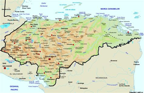 map  honduras maps worl atlas honduras map