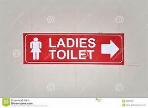 Ladies Toilet Stock Image  Image Of Mark  Signs  Bathroom