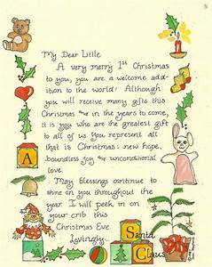 17 best images about letters to santa on pinterest With baby s first christmas letter from santa template