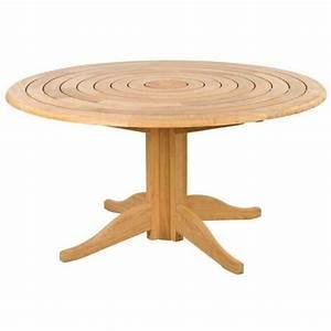 Table De Jardin Ronde En Bois : table de jardin ronde en bois d 145 cm et 175 cm haut de ~ Dailycaller-alerts.com Idées de Décoration