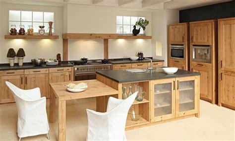 cuisine en bois massif cuisine bois