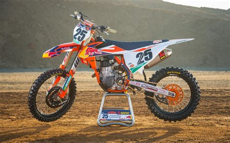 red motocross detailed images of the red bull ktm 2018 race bikes