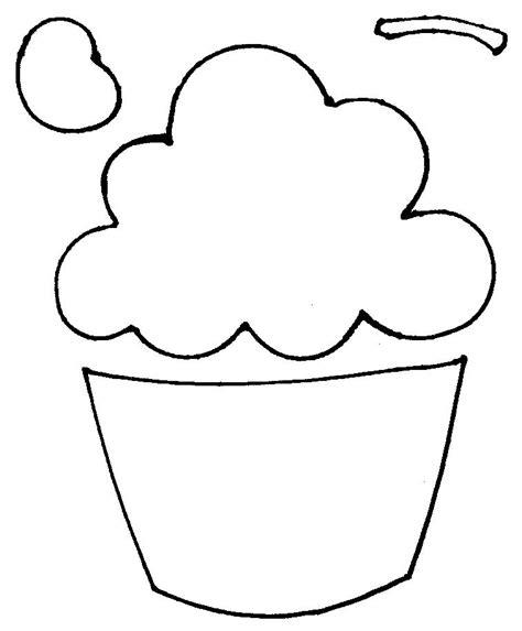 cupcake template printable molde do cupcake flavia