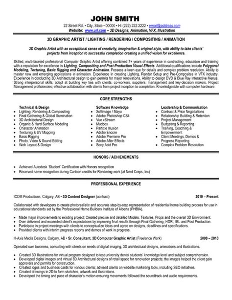 Resume Of Graphic Artist by Top Graphic Designer Resume Templates Sles