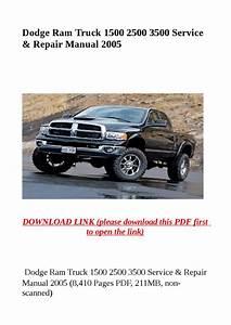 Dodge Ram Truck 1500 2500 3500 Service  U0026 Repair Manual
