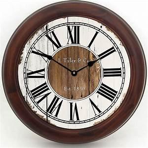 Rustic, Wood, Wall, Clock