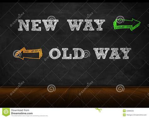 New Way  Old Way Stock Illustration Illustration Of
