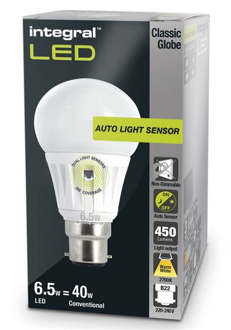 dusk to light bulbs sensor l led 40 60w equivalent