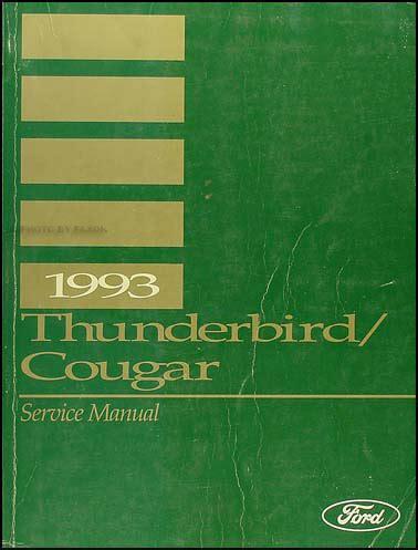 car repair manual download 1986 ford thunderbird free book repair manuals 1993 ford thunderbird mercury cougar repair shop manual original