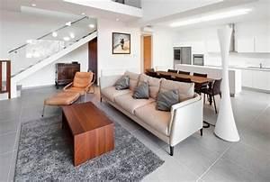 salon avec carrelage blanc With quel couleur pour un salon 5 41 photos qui vont vous presenter le carrelage brillant