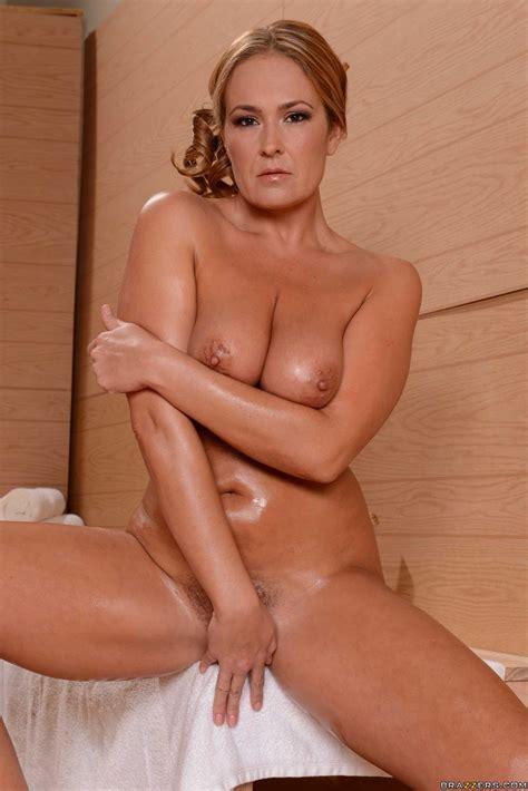 Mature Blonde Oiled Up And Masturbating Photos Elexis