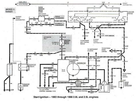 Wiring Diagram For 1988 Ford Ranger by Ford Bronco Ii And Ranger 1983 1988 Start Ignition Wiring