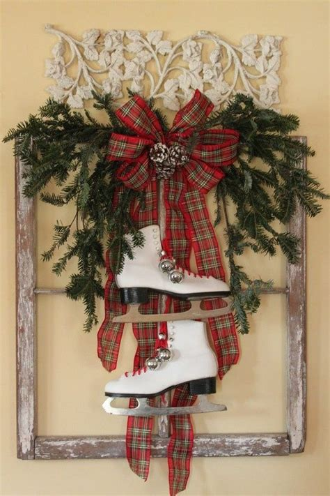 old window used for christmas decor holidays