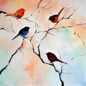 Large Original Abstract Painting Bird Painting Modern Bird