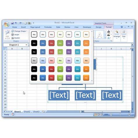 insert smartart charts  microsoft excel