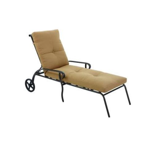 home depot chaise lounge hton bay westbury adjustable patio chaise lounge with