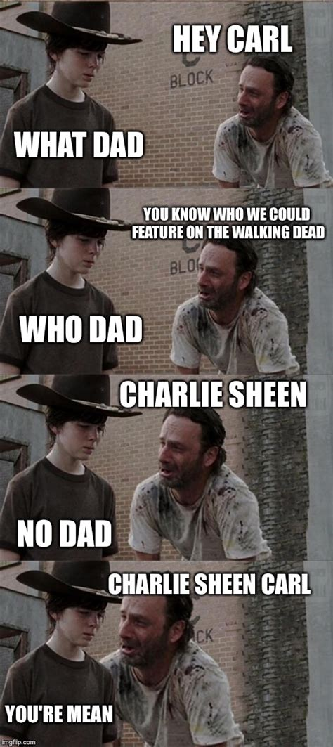 Walking Dead Rick And Carl Meme - rick and carl long hey carl what dad you know who we could feature on the walking dead who dad