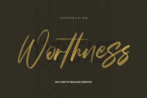Mad faith ~ brush font 2337399. Worthness SVG Brush Font Free Sans   Deeezy