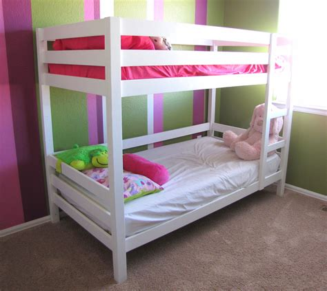 ana white classic bunk beds  white diy projects