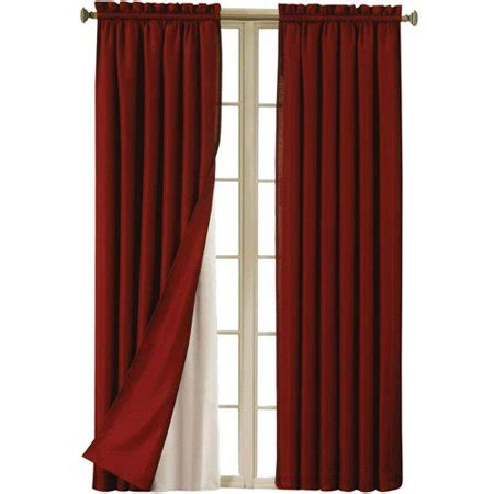 walmart blackout curtains eclipse blackout thermaliner curtain panels set of 2