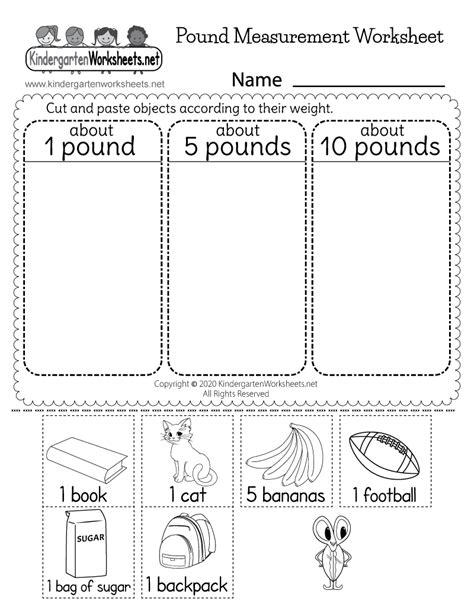 kindergarten math measurement worksheets worksheets