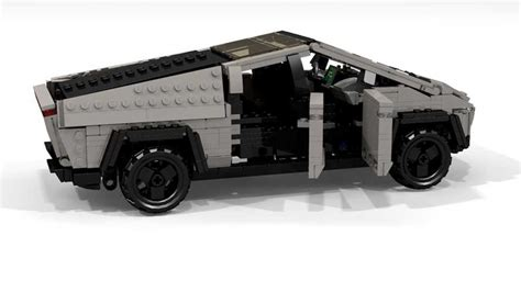 tesla cybertruck lego  peter blackert motorcom